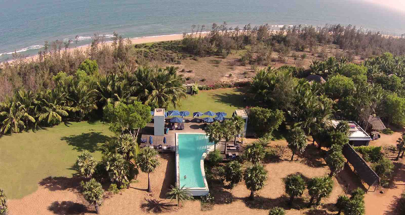 Sky view from Dune Eco Village and Spa Outdoor Swimming Poool
