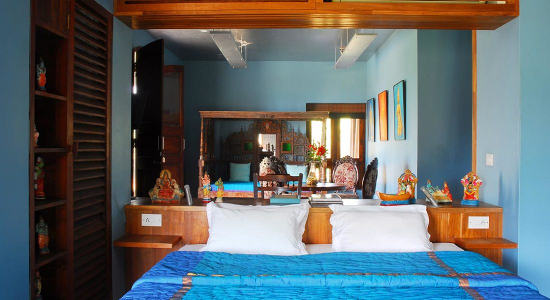 Surya Suite bedroom at Dune Eco Village and Spa