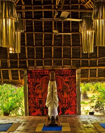 The yoga hall at Dune Healing Center In Dune Eco Village and Spa