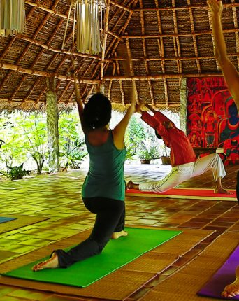 yoga hall at Dune Eco Village and Spa hotel