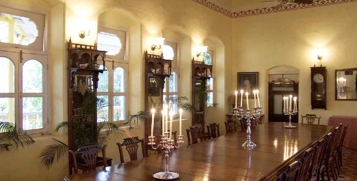 british dining room at Dune Barr House