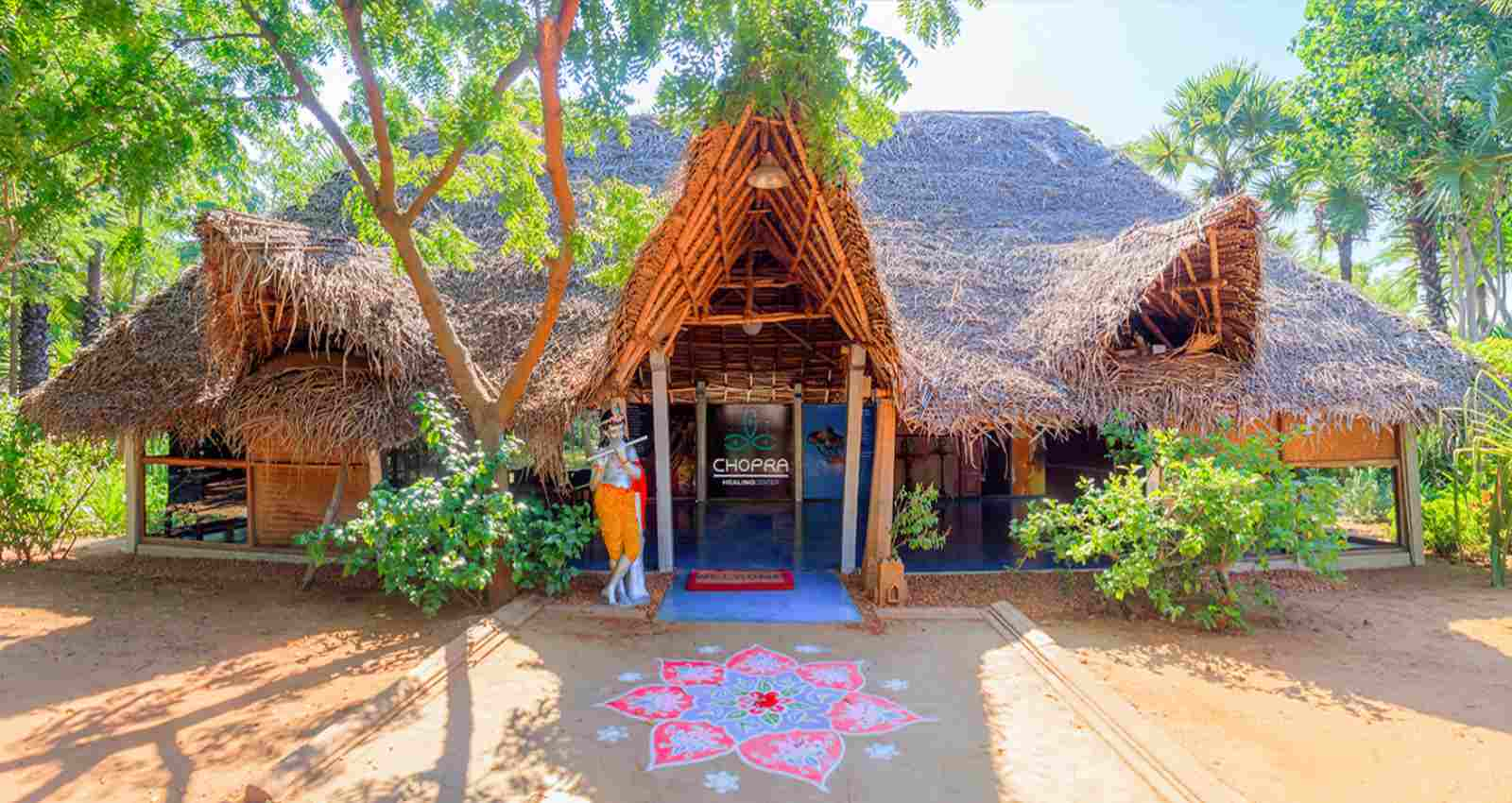 Deepak Chopra Healing Center entrance-Ayurveda, Yoga and meditation in India