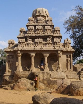 Picture of Yudhishthir Temple on the site of the Five Ratha in Mahabalipuram