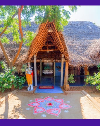 Entrance of Dune Healing Center at Dune Eco Village and Spa
