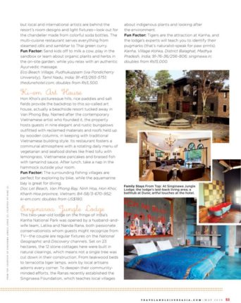 magazine cover about Dune eco village and spa Near Puducherry