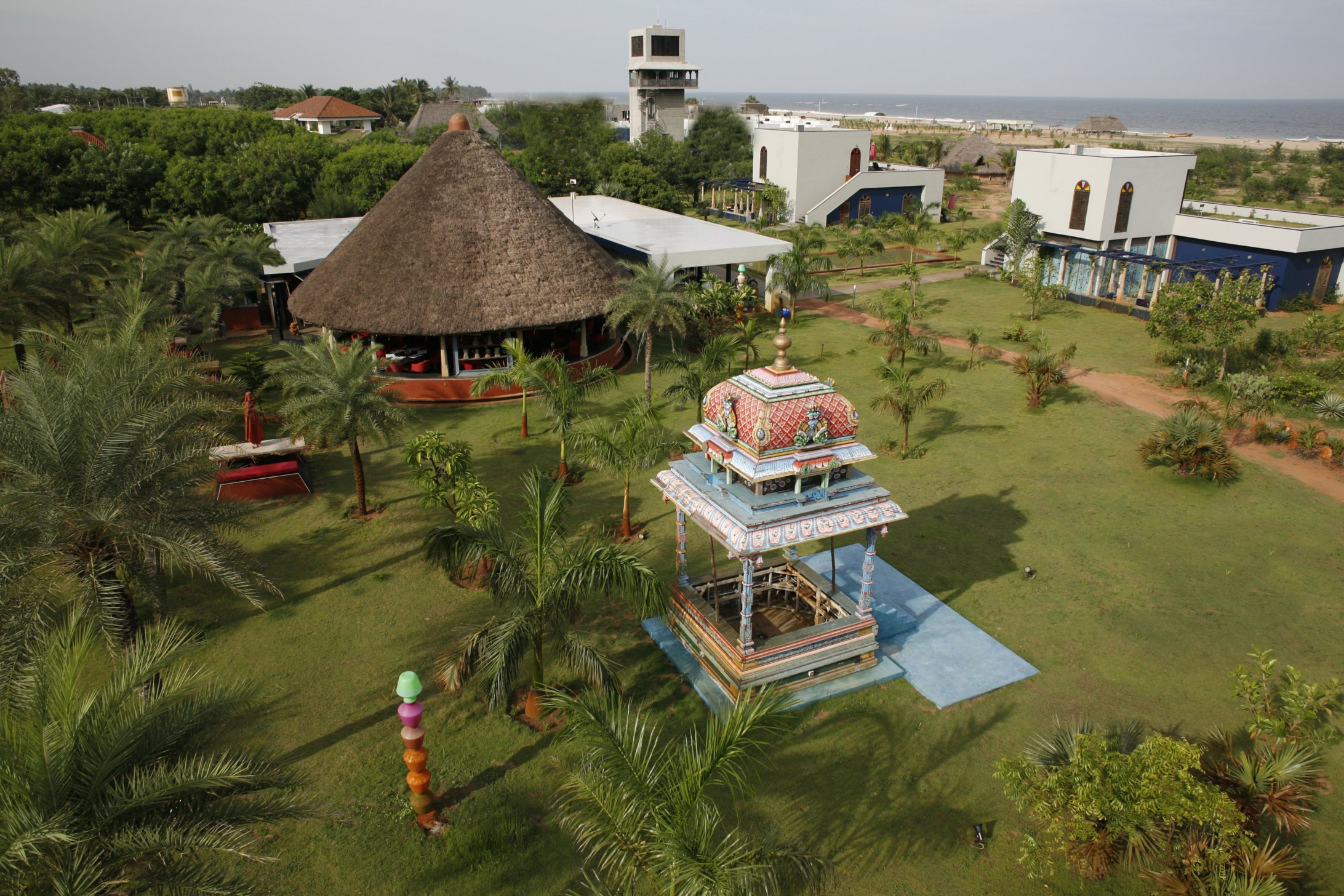 view of Fun restaurant and kalyana mandapa at Dune Eco Village and Spa