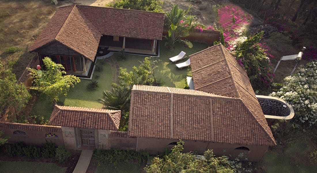Aerial view of Family House at Dune Eco Village and Spa