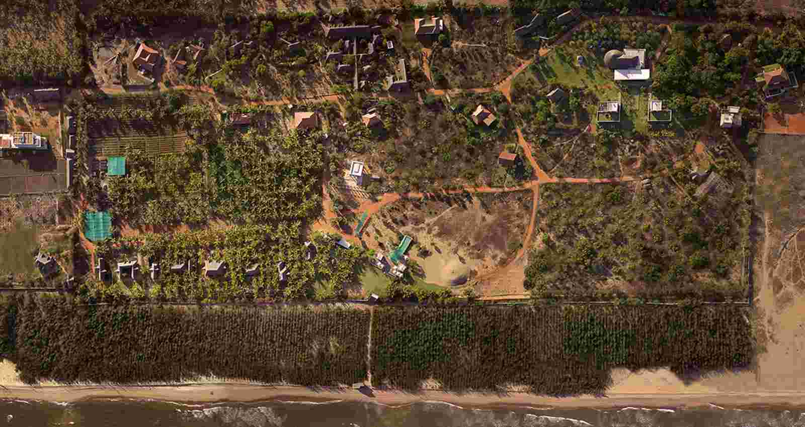 Aerial View of Dune Eco Village & Spa Resort-Puducherry