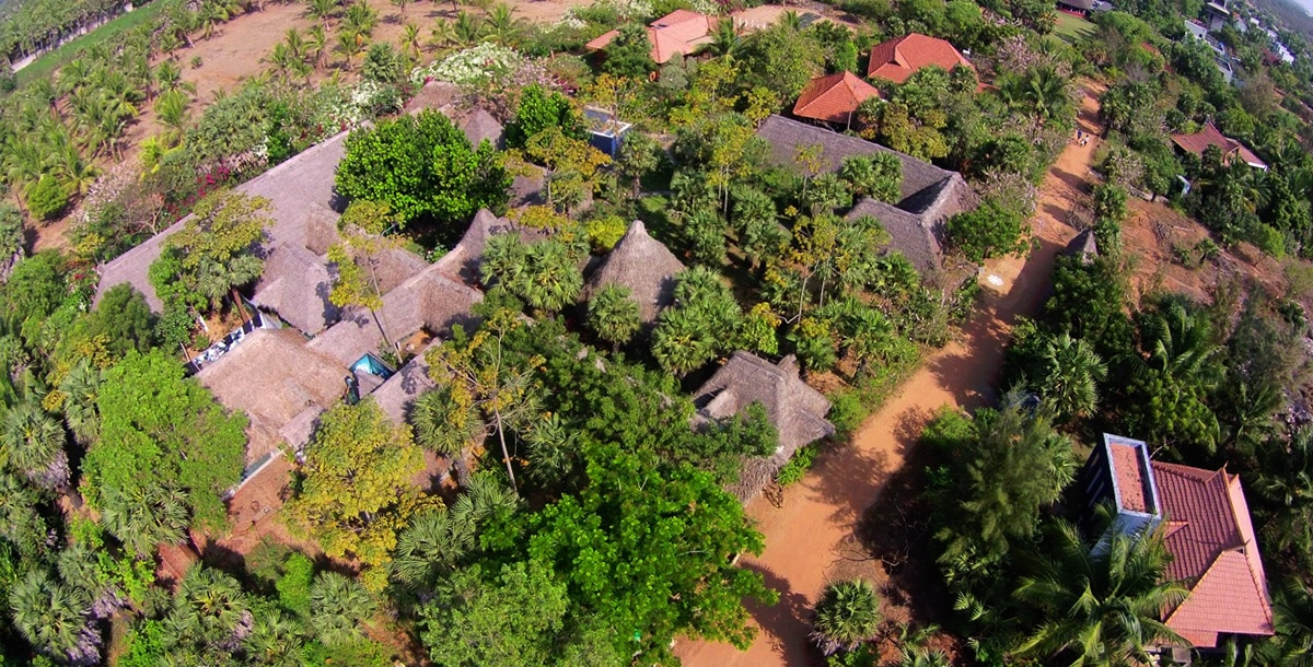 Sky View of Dune Healing Center at Dune Eco Village and Spa