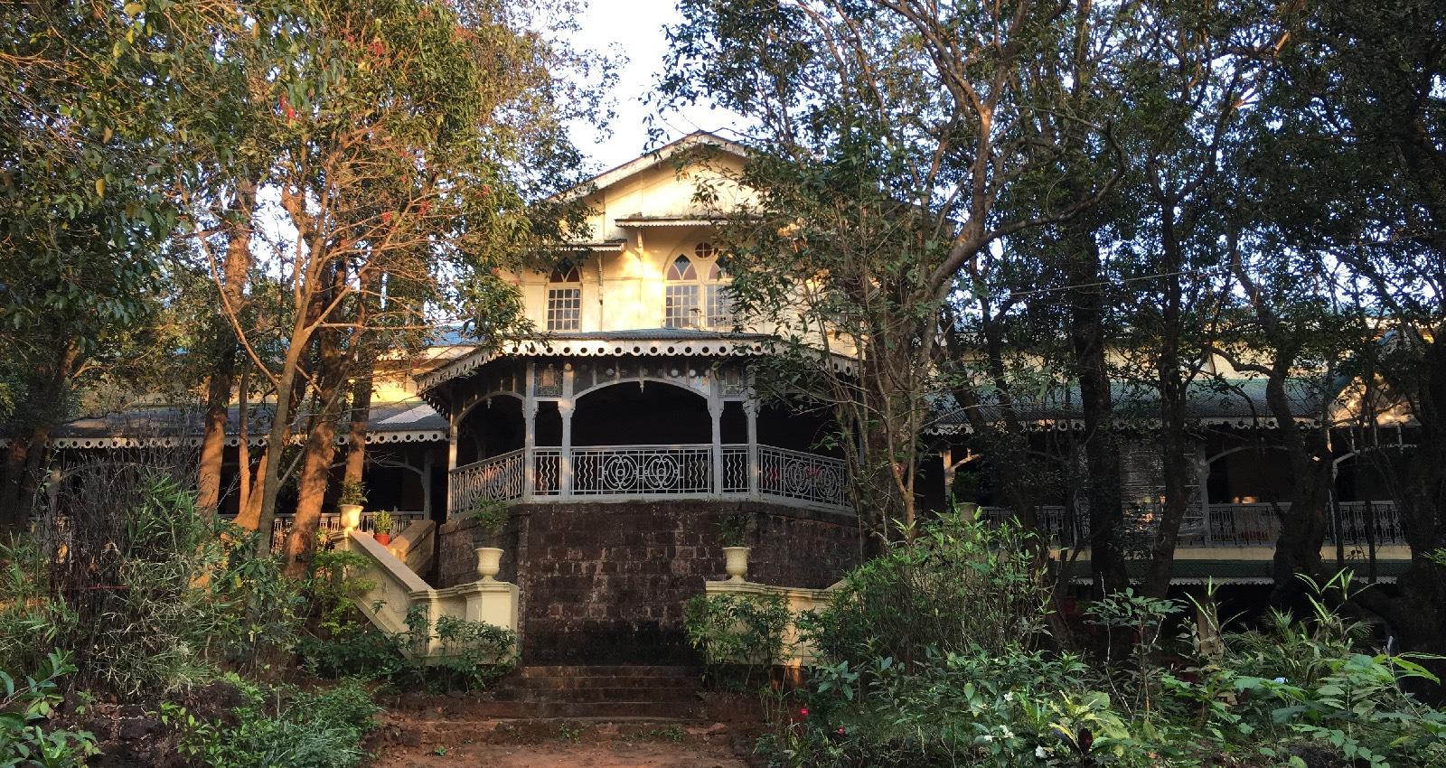 Viw of the verandah at Dune Barr House Verandah in the Forest locatad in Matheran Near Mumbai